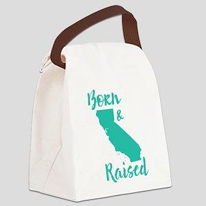 California - Born & Raised Canvas Lunch Bag