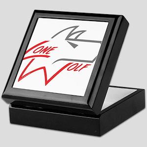 Lone Wolf logo (red/gray) Keepsake Box