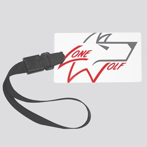 Lone Wolf logo (red/gray) Luggage Tag