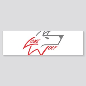 Lone Wolf logo (red/gray) Bumper Sticker