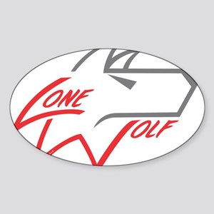 Lone Wolf logo (red/gray) Sticker