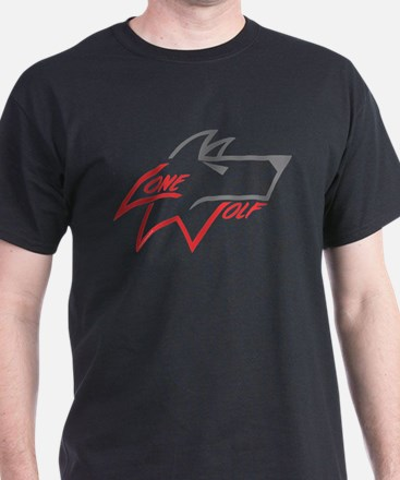 Lone Wolf logo (red/gray) T-Shirt