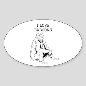 I Love Baboons Sticker
