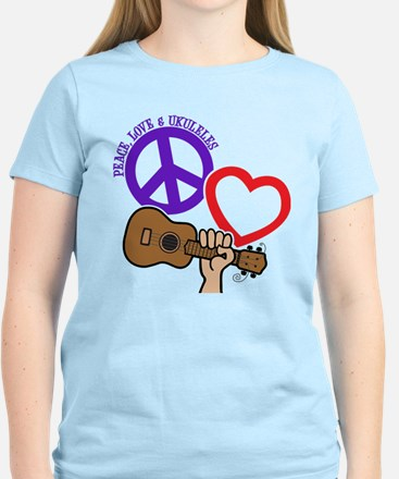 P, L, UKULELES Women's Light T-Shirt