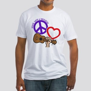 P, L, UKULELES Fitted T-Shirt
