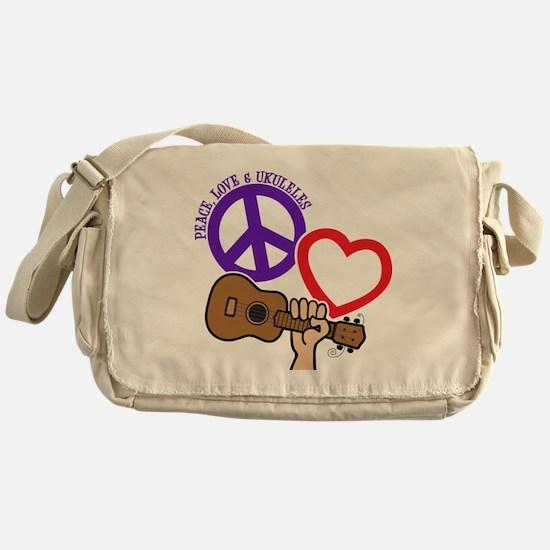 P, L, UKULELES Messenger Bag