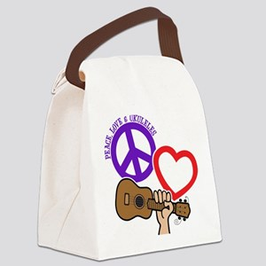 P, L, UKULELES Canvas Lunch Bag