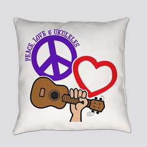 P, L, UKULELES Everyday Pillow