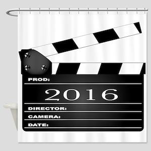 2016 Movie Clapperboard Shower Curtain