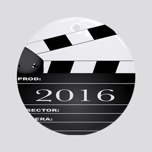 2016 Movie Clapperboard Round Ornament