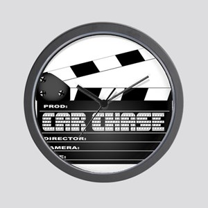 Car Chase Clapperboard Wall Clock