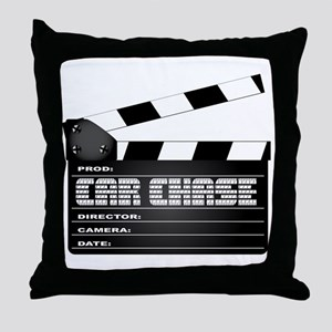 Car Chase Clapperboard Throw Pillow