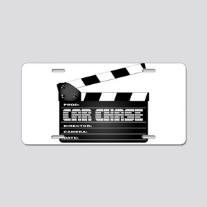 Car Chase Clapperboard Aluminum License Plate