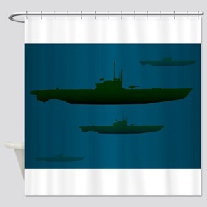 U Boat Wolf Pack Shower Curtain