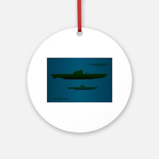 U Boat Wolf Pack Round Ornament
