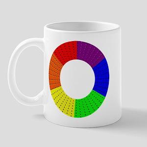 RAINBOW PRIDE BRICK CIRCLE Mug