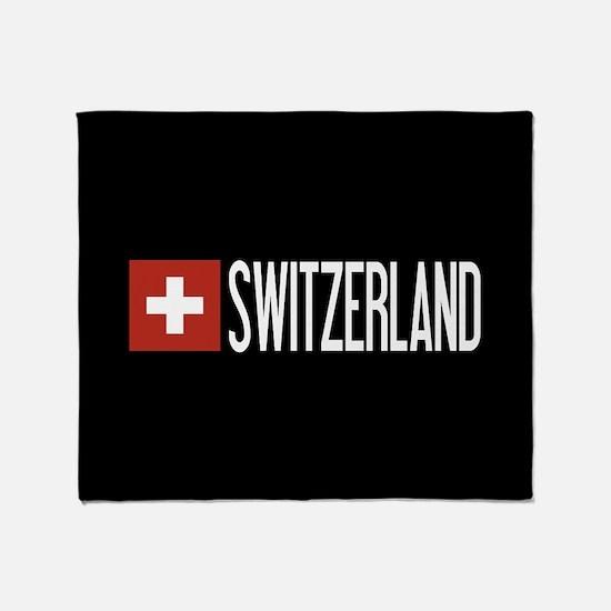 Switzerland: Swiss Flag & Switzerlan Throw Blanket