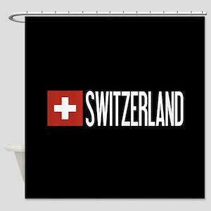 Switzerland: Swiss Flag & Switzerla Shower Curtain