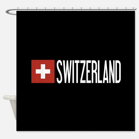 Switzerland: Swiss Flag & Switzerla Shower Curtain