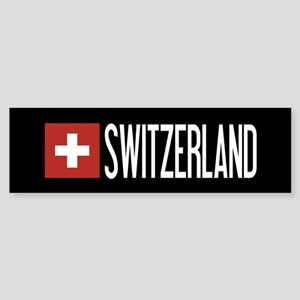 Switzerland: Swiss Flag & Switzer Sticker (Bumper)