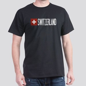 Switzerland: Swiss Flag & Switzerland Dark T-Shirt