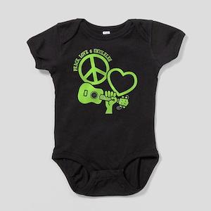 P, L, UKULELES Baby Bodysuit