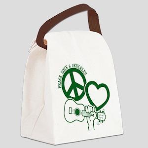 P, L, UKULELES Canvas Lunch Bag