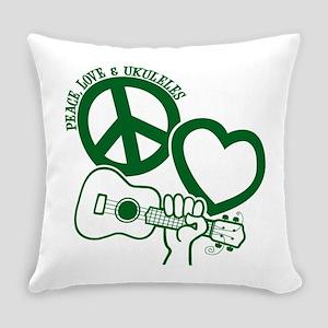 P, L, UKULELES Everyday Pillow