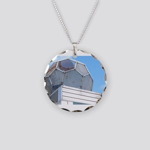 football sculpture Necklace Circle Charm