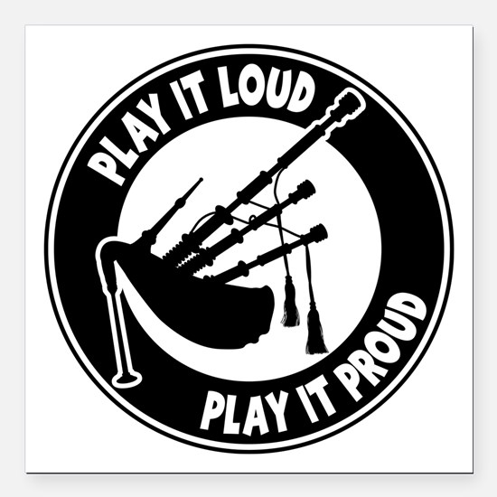 """PLAY PROUD Square Car Magnet 3"""" x 3"""""""
