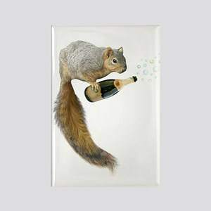 Squirrel Champagne Bubbles Magnets