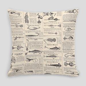 Fishing Lures Vintage Antique Newsprint Everyday P