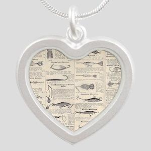Fishing Lures Vintage Antique Newsprint Necklaces