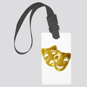 MASKS OF COMEDY & TRAGEDY Large Luggage Tag