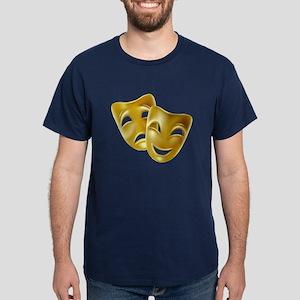 MASKS OF COMEDY & TRAGEDY Dark T-Shirt