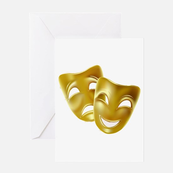 MASKS OF COMEDY & TRAGEDY Greeting Card