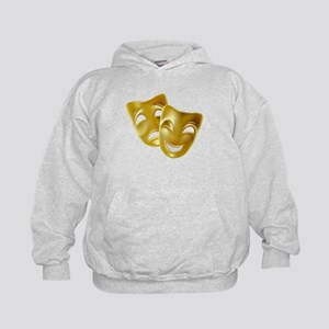 MASKS OF COMEDY & TRAGEDY Kids Hoodie