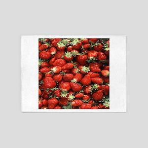 Strawberries 5'x7'Area Rug