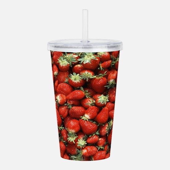 Strawberries Acrylic Double-wall Tumbler