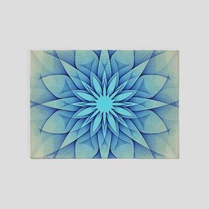 blue flower 5'x7'Area Rug