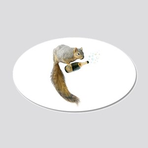 Squirrel Champagne Bubbles Wall Decal