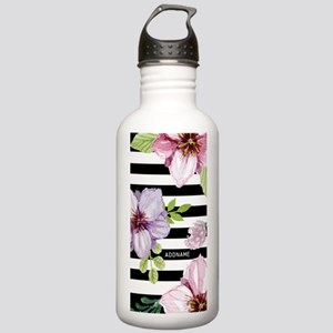 Elegant Black And Whit Stainless Water Bottle 1.0L