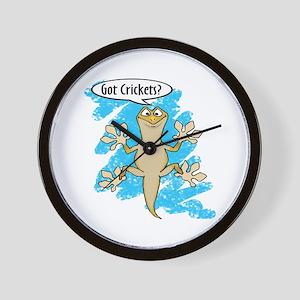 Funny Carton Gecko Wall Clock