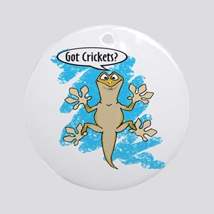 Funny Carton Gecko Ornament (Round)