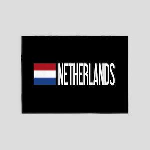 Netherlands: Dutch Flag & Netherlan 5'x7'Area Rug