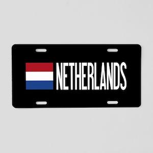 Netherlands: Dutch Flag & N Aluminum License Plate
