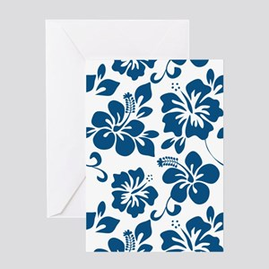 Blue Hibiscus Greeting Cards