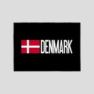 Denmark: Danish Flag & Denmark 5'x7'Area Rug