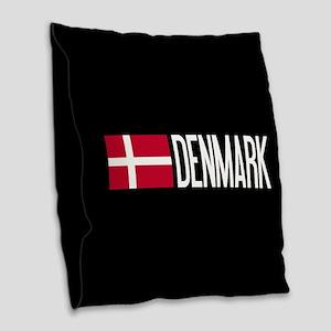 Denmark: Danish Flag & Denmark Burlap Throw Pillow
