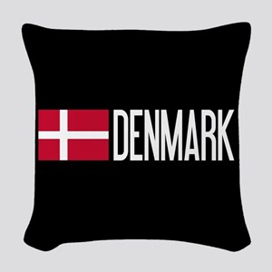Denmark: Danish Flag & Denmark Woven Throw Pillow
